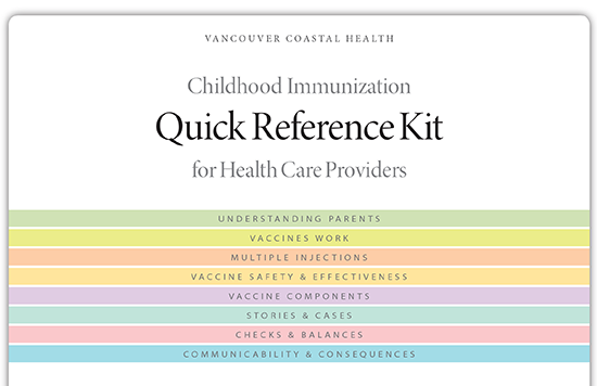 Childhood Immunization Quick Reference Kit for Health Care Providers